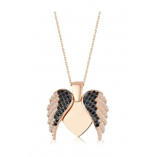 Angel Wings Necklace - Genuine Silver 925