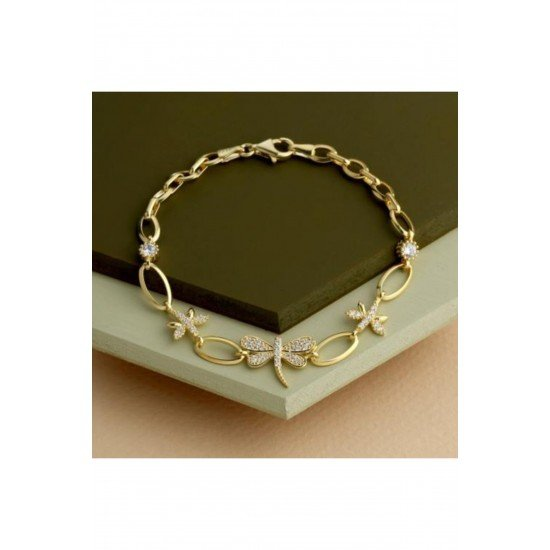 Spring bracelet - original silver plated with gold 925