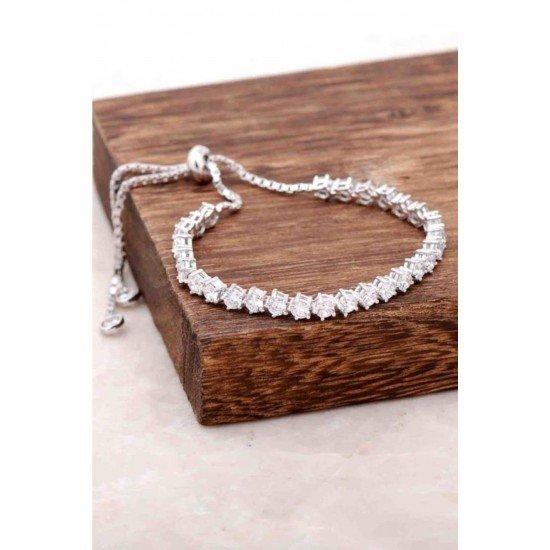Zircon beads Bracelet - Genuine Silver 925
