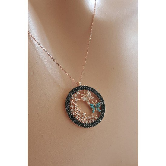 Butterfly House Necklace - Genuine Silver 925
