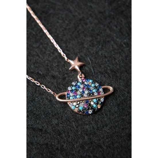 Star of the Planets Necklace - Genuine Silver 925