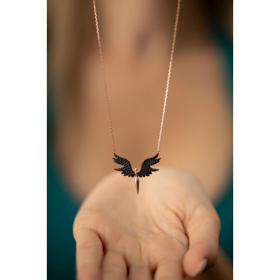 The Girl's Angel Necklace - Genuine Silver 925