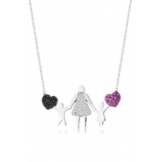 The Compassionate Mother Necklace - Genuine Silver 925