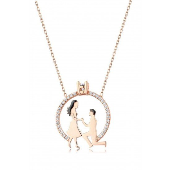 Marriage proposal necklace - original silver plated 925