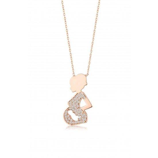 Pregnant Woman Necklace - Genuine Silver 925