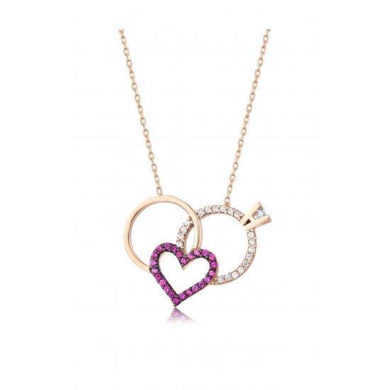 Wedding Ring Necklace - Genuine Silver 925