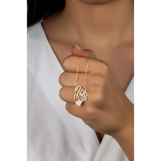 kindness mother Necklace - Genuine Silver 925
